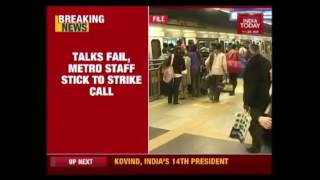 Delhi Metro Employees On Calls For Strike Demanding Salary Hike