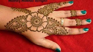 easy mehndi designs for hands  mehndi designs tutorials for begineers.
