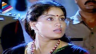 Vijayashanthi rescuing the girl from a brothel - Mondi Mogudu Penki Pellam Scenes - Suman