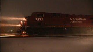 CN Train Spotting HD: Foreign Power Alberta | CP 8827 BNSF 7279 CP 8822 On CN Edson Sub 6/7 12/27/13