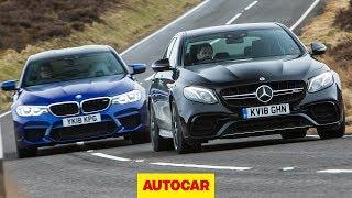 2018 BMW M5 vs Mercedes-AMG E63 S   Super Saloons tested   Autocar