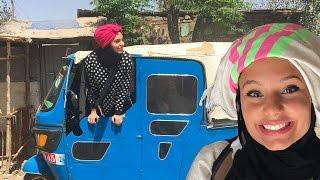 عربيّة تتحول إلى أثيوبيّة   Arab girl going Ethiopian