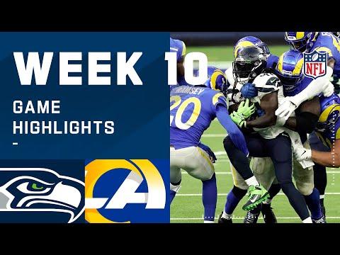 Seahawks vs. Rams Week 10 Highlights NFL 2020