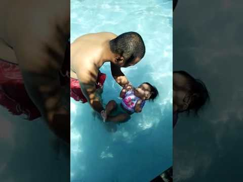 Bachi's 1st swimming experience at 10mos old+
