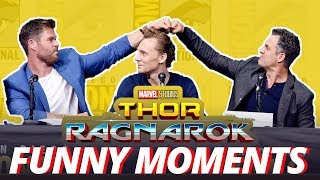 Thor: Ragnarok Cast - Best Funny Moments (2017)