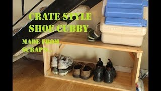 quick and simple shoe cubby from scrap 1x4's....