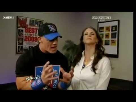 WWERaw John Cena & Stephanie McMahon Backstage HD