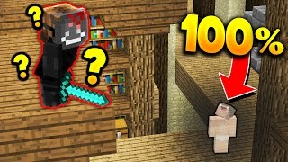 100% INVISIBLE in MINECRAFT MURDER MYSTERY!