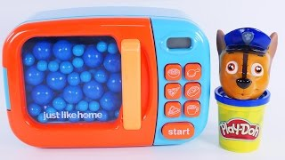 Learning Colors with Paw Patrol Play Doh Microwave - Learn Colours for Toddlers, Children, Babies