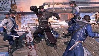 Assassin's Creed Rogue Shay's Brutal Katana Killing Spree & Man of War Combat