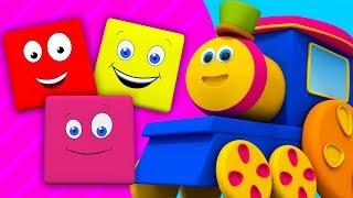 Bob il treno | cavalcata di colori | educativo canzone | filastrocche | Bob Train Colors Ride