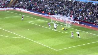 Stewart Downing's first league goal for Villa against Burnley