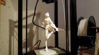 Overwatch Tracer 3D Print timelapse