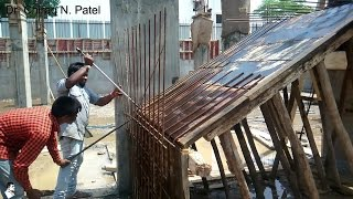 Rebar / Reinforcement for Staircase - Installation of Steel Reinforcement - On Site Construction
