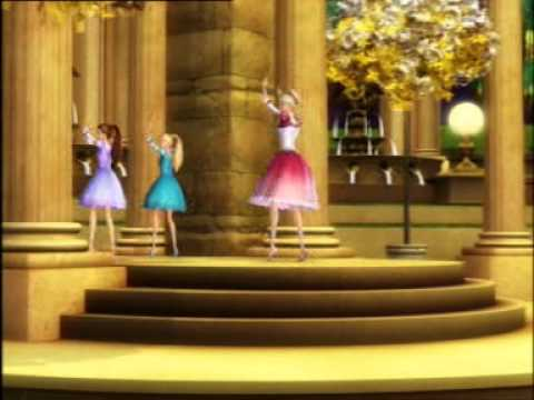 Barbie and Sisters Dancing in Barbie and 12 Princesses