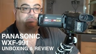 Unboxing & Review Panasonic WXF991 Camcorder great for Vlogging