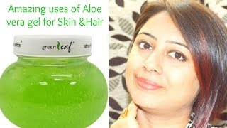 Best Uses of Aloe vera gel for SKIN and HAIR (HINDI)