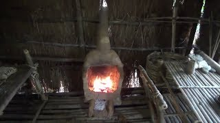 Primitive Life-Build Fireplace in the Shed!