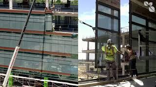 Campus consolidation: Glass exterior installation begins