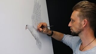 Making of Burning desire   a painting by Marcel Witte