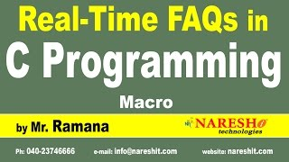 Macro | C Technical Interview Questions and Answers | Mr. Ramana