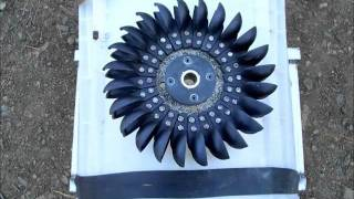 Free power- How to convert an old washing machine into a water powered generator