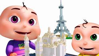 Five Little Babies Building Blocks (Monuments)   Nursery Rhymes & Kids Songs   Videogyan 3D Rhymes