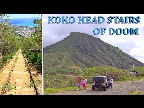 Koko Crater, Stairs of Doom - Oahu, Hawaii 2016 4K