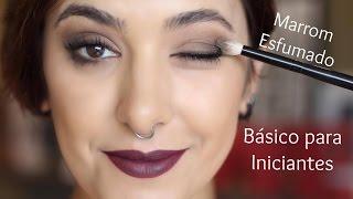 Como fazer um olho marrom esfumado básico para iniciantes - por Taís Andrade