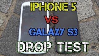iPhone 5 vs Samsung Galaxy S3 Drop Test