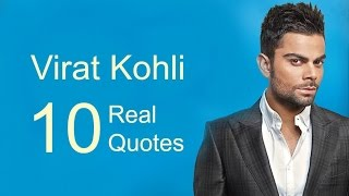 Virat Kohli   10 Real Life Quotes on Success | Inspiring | Motivational Quotes