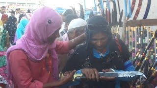 Indian Hijra Transgender Third gender buying sword in urs ajmer