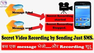 Secretly record video by giving sms