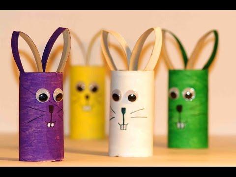 Простые поделки для детей. Зайцы из картона. - youtube,youtube music,videos,youtube to mp3,utube,youtub