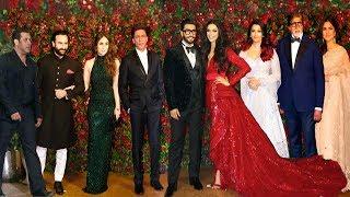 Ranveer Deepika Wedding Reception FULL HD Video   Shahrukh,Salman,Bachchan,Katrina,Kareena,Aish,Saif