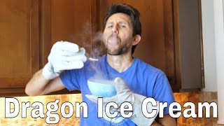 Making Non-Dried Powdered Ice Cream With Liquid Nitrogen and a Blender