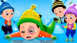 Five Little Babies Skating On Ice | Nursery Rhymes & Songs For Children | TinyDreams Kids