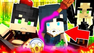 Minecraft - ESCAPE THE WICKED WITCH TRIES TO EAT US!! (Minecraft Roleplay)