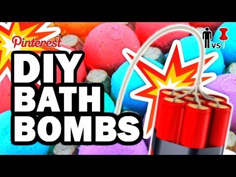 DIY Bath Bombs Pinterest Test 80 Man Vs Pin