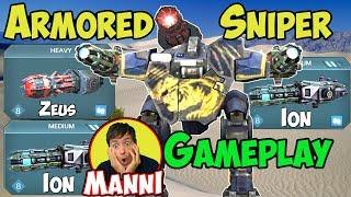 War Robots New Ion & Zeus Lancelot ARMORED SNIPER Gameplay - WR