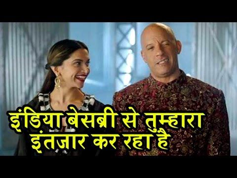 DEEPIKA PADUKONE WELCOMES VIN DIESEL To India In Hindi Language | XXX Return Of Xander Cage