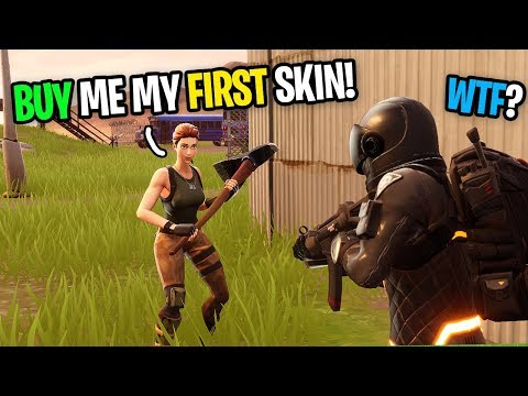 Asking Strangers To Buy My FIRST SKIN On Fortnite pretending to be a fake noob