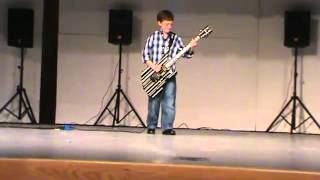 10 Year old plays Avenged Sevenfold Welcome to the Family at grade school talent show!