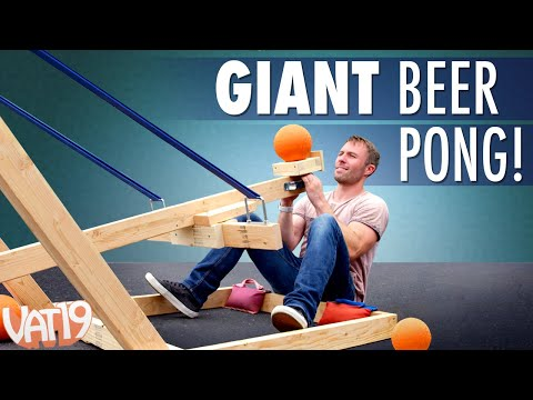 Giant Catapult Beer Pong