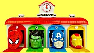 TAYO The Little Bus Depot Garage Deluxe Playset, Learn Colors SUPERHERO Avengers Egg Surprise TUYC