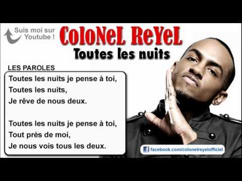 Colonel Reyel Toutes les nuits Paroles officiel