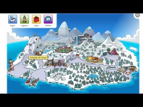 Club penguin itens escondidos da ilha com partiçipação de meu primo