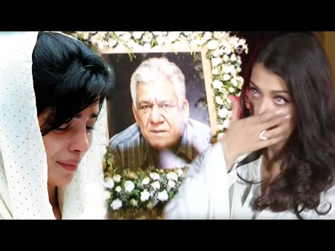 Aishwarya Rai Emotional Om Puri's PRAYER Meet | Om Puri