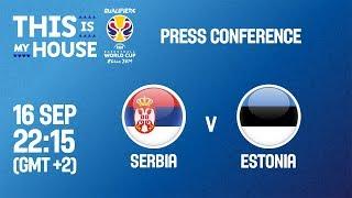 Serbia v Estonia - Press Conference - FIBA Basketball World Cup 2019 European Qualifiers