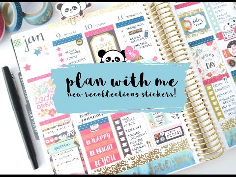 Plan With Me New Recollections Planner Stickers